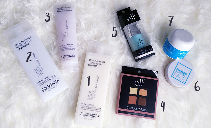E.L.F. Cosmetics, BWC, Giovanni, Everyday Minerals
